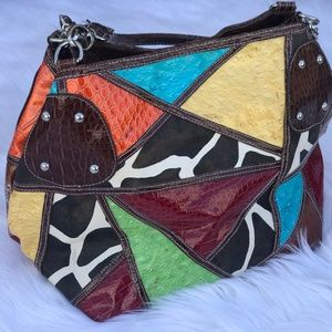 Handbags - Multi Color Patch work handbag
